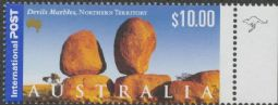 AUSTRALIA Reprint SG1989 $10 Devil's Marbles, Northern Territory - 1 Roo